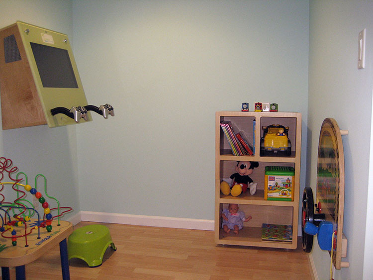 Photo of kids play area for pediatric dentist Dr. Christine Dowling